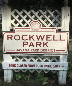 rockwell park welcome sign