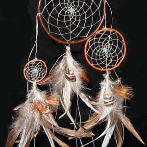 The beauty of the American Indian dreamcatcher has been embraced in many settings