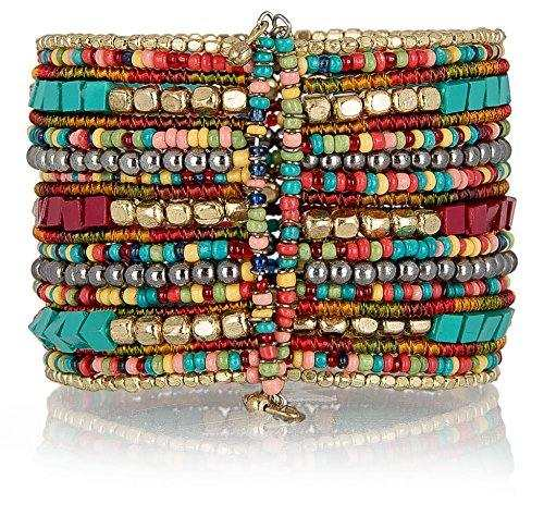 Bohemian Multi-Colored Beaded Cuff Bracelets for Women Collection